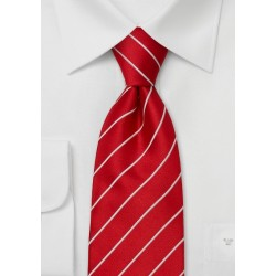 Business Tie -  Bright Red