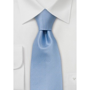Spring and Summer tie - Solid colored light blue tie with fine pattern