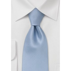 Light blue silk tie