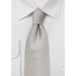 Silk tie - Elegant silk tie in champagne color