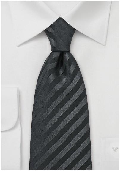 Classic black tie - Stain resistant Microfiber necktie in solid black