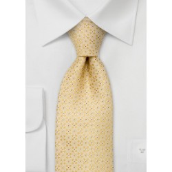 Designer neckties -  Yellow silk tie by Chevalier