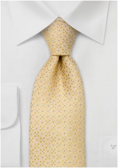 Designer neckties -  Yellow silk tie by Chevalier
