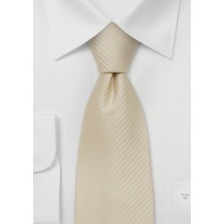 Light tan silk tie - Cream/tan colored necktie