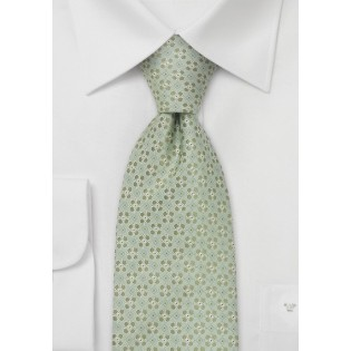 Designer neckties - Light green silk tie