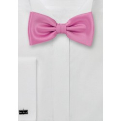 Rose-pink bow tie  - Pre-tied pink bow tie