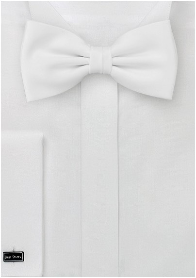 White bow tie  - Formal bow tie in bright white color