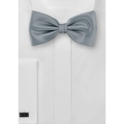 Silver bow tie - Formal bow tie in solid silver