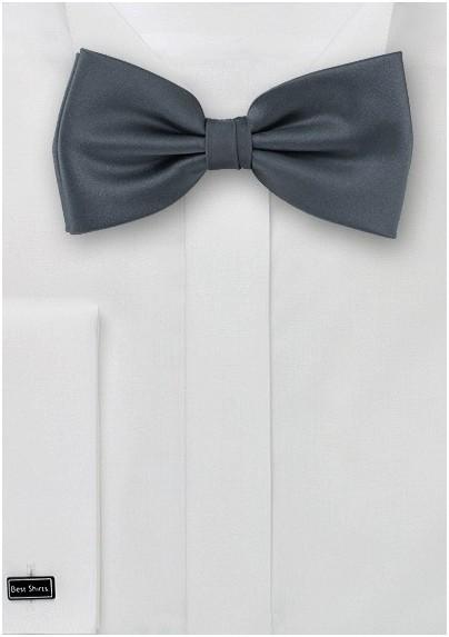 Dark gray bow tie  -  Solid color bow tie in dark gray