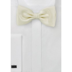 Bow tie  -  Pretied bowtie in light yellow