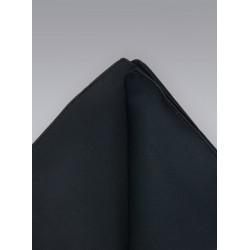 Black hankie -  Classic black pocket square