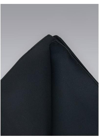 Black hankie -  Classic black pocket square