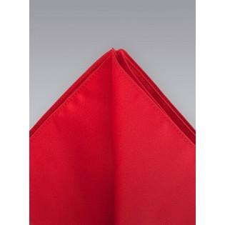 Pocket Squares -  Bright red hankie