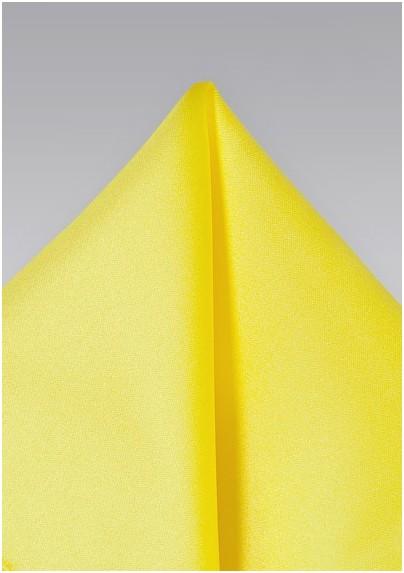 Pocket Squares - Bright yellow hankie