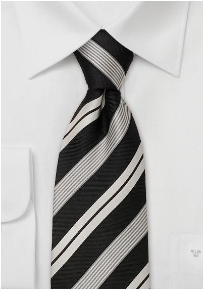 Striped neckties - Modern black necktie
