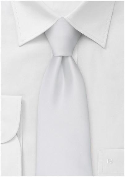 Formal neckties - Solild bright white necktie