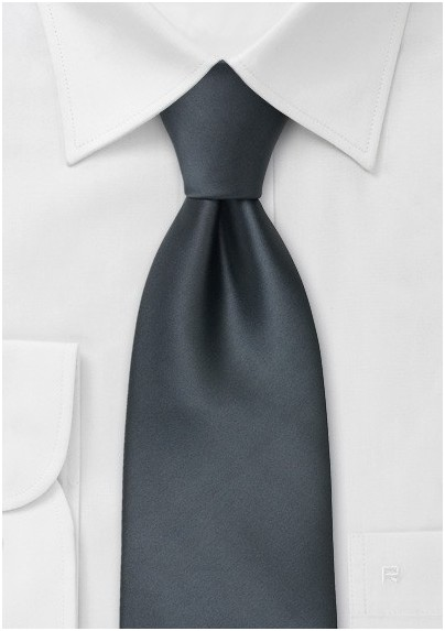 Solid color neckties - Smoke gray tie