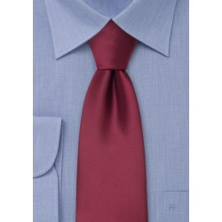 Extra Long Ties - Burgundy red XL necktie