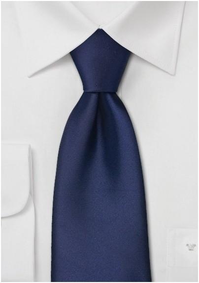 Extra long ties - Sapphire blue XL necktie