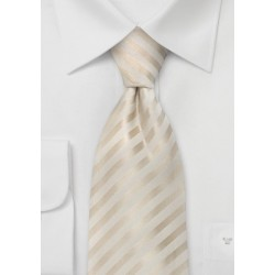 Wedding Neckties - Ivory Color Silk Tie