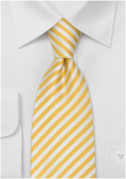 Kids Ties - Yellow Silk Tie for Kids