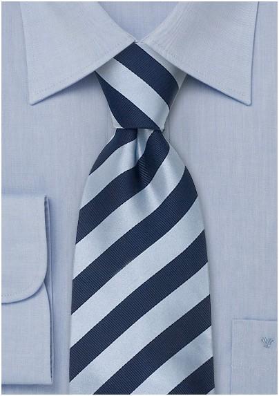Blue striped ties - Striped silk tie in blue