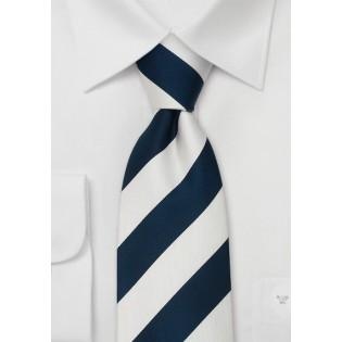 Striped Neckties - Blue & White Striped Silk Tie