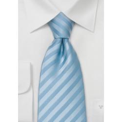 Sky Blue Necktie in Extra Long Size