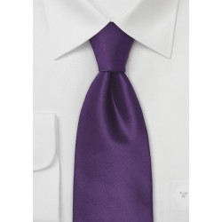 Dark Purple Necktie in XL Length