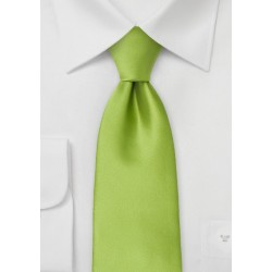 Bright Green Mens Tie in XL Length