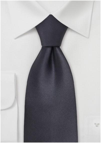 Dark Gray Formal Silk Tie