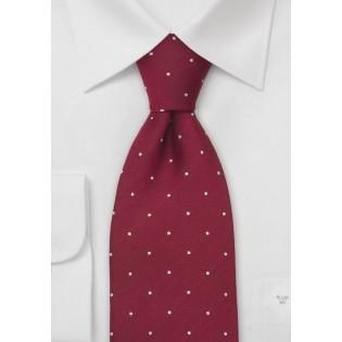 Cardinal Red Polka Dot Tie by Chevalier