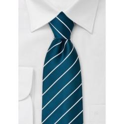 XL Mens Necktie in Turquoise Blue