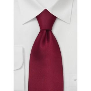 Extra Long Mens Tie in Dark Solid Red