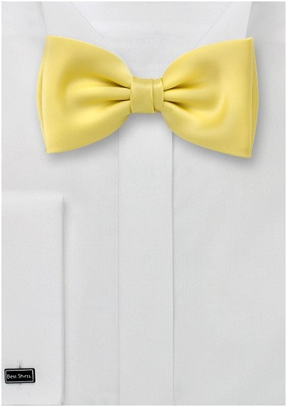 Light Yellow Bow Tie