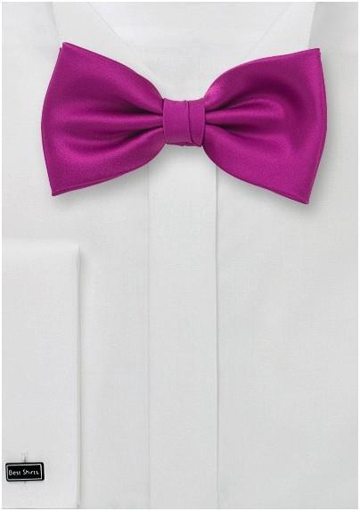 Bow Tie in Dark Fuchsia