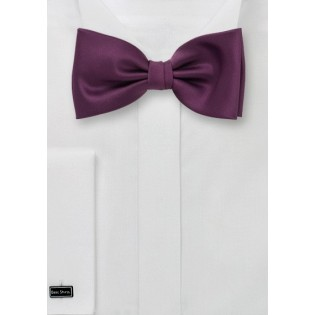 Wine-Red Bow Tie