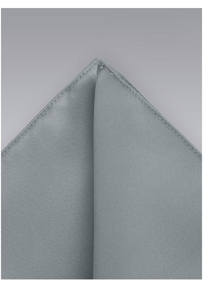 Light Silver Pocket Square