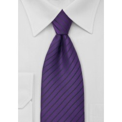 Classic Dark Purple Striped Tie