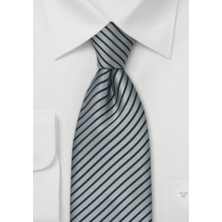 Modern Silver and Black Tie