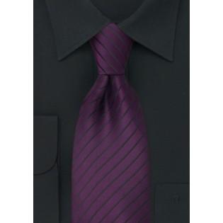 Purple and Black Mens Tie
