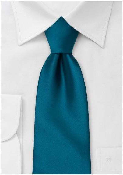 Dark Turquoise Blue Tie in XL
