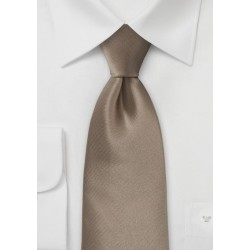 Bronze Brown Tie in XL Length