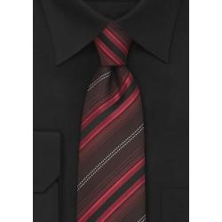 Modern Maroon-Red Striped Necktie