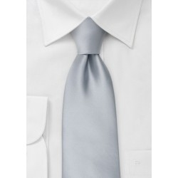 Solid Silver Tie for Kids
