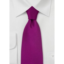Solid Color Ties Dark Fuchsia Pink