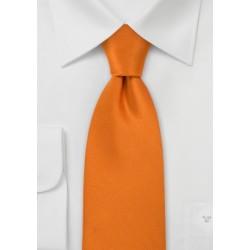 Bright Pumpkin Orange Silk Tie