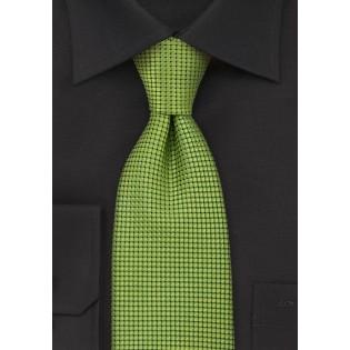 Metallic Green Silk Necktie