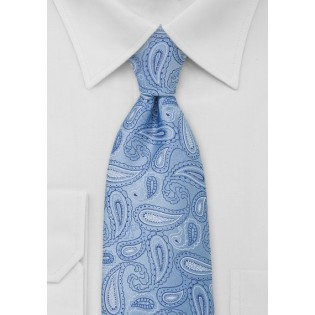 Light Blue Paisley Necktie