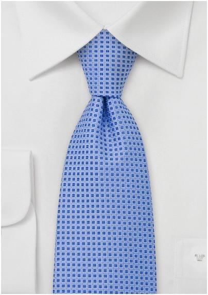 Cornflower Blue Silk Tie
